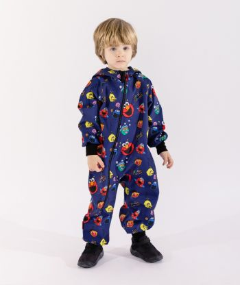 Waterproof Softshell Overall Comfy Funny Faces Jumpsuit