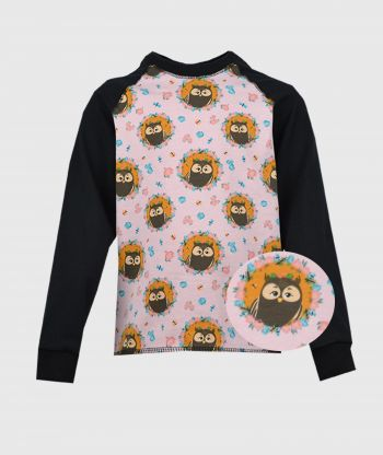 Longsleeve Owls Black