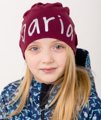 Baggy Hat Reflex Burgundy