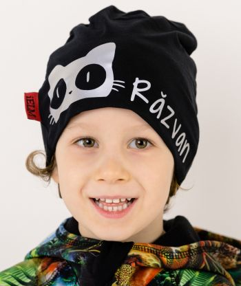 Baggy Hat Reflex Cat Black