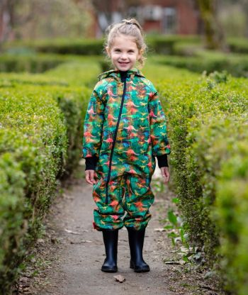 Waterproof Softshell Overall Comfy Dino World Jumpsuit
