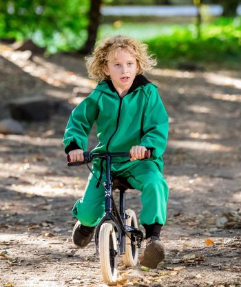 Waterproof Softshell Overall Comfy Avocado Green Jumpsuit