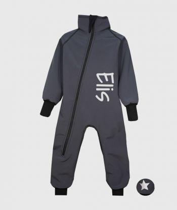 Waterproof Softshell Overall Comfy Anthracite Bodysuit