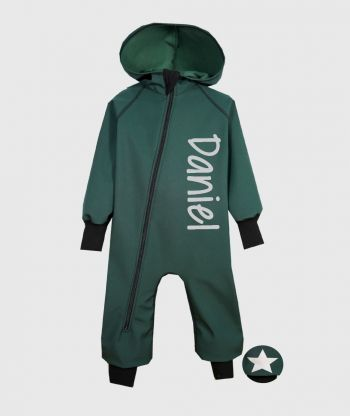 Waterproof Softshell Overall Comfy Forest Green Jumpsuit
