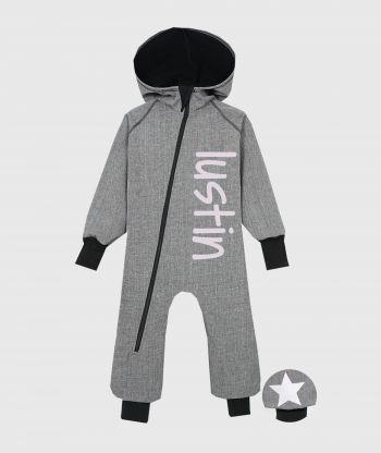 Waterproof Softshell Overall Comfy Grey Melange Jumpsuit