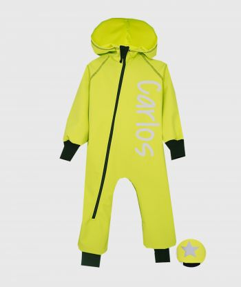 Waterproof Softshell Overall Comfy Yellow Chrome Jumpsuit