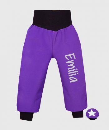 Waterproof Softshell Pants Intense Purple