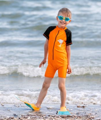Swimsuit Orange/Black